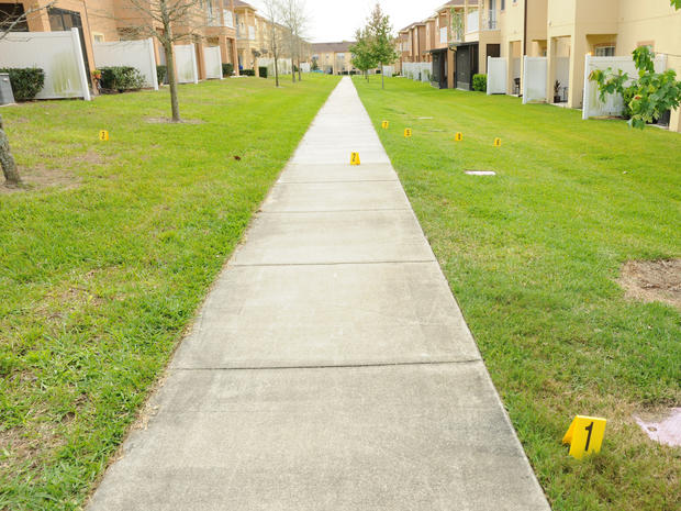 George Zimmerman crime scene photos