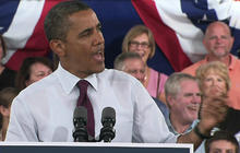 """Obama sings """"Happy Birthday"""" to supporter"""