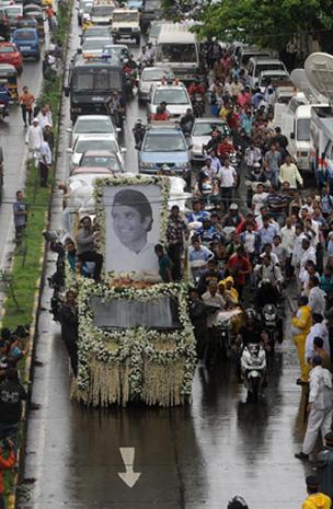 Rajesh Khanna's Bollywood funeral
