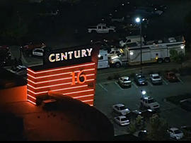 A shooting at a movie theater in Aurora, Colo., left at least 14 people dead and around 50 more wounded, July 20, 2012.