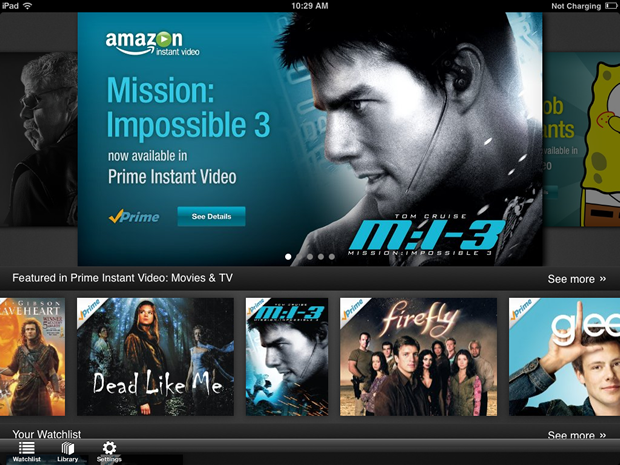 Amazon's new Instant Video iPad app