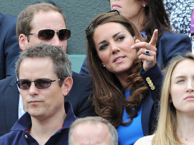 Royals take in Olympic tennis, cycling