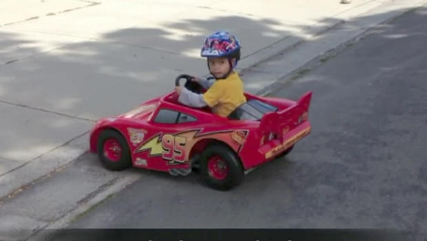 childs drivable toy car gets a pretty amazing upgrade