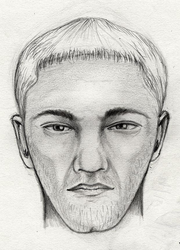 这张草图显示了与Jenn Gibbons报道的性攻击有关的嫌疑人