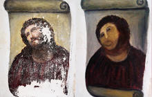 19th century fresco ruined by good intentions