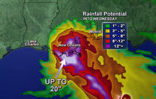 Tropical Storm Isaac heads towards New Orleans