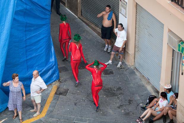 World's biggest tomato fight