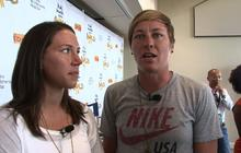 Olympians in Charlotte: Wambach, Cheney talk policy