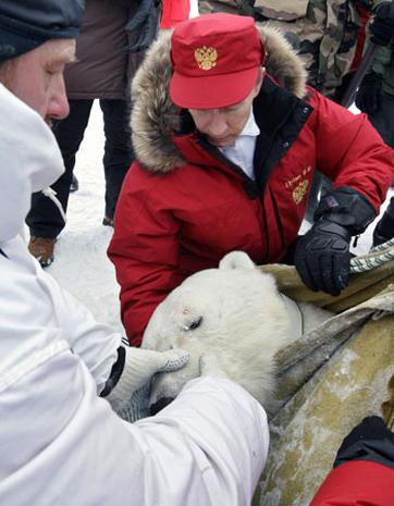 Vladimir Putin doing manly things