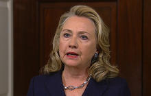 "Clinton: Ambassador's death a ""senseless act of violence"""