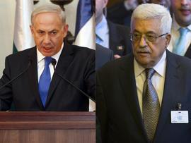 Israeli Prime Minister Benjamin Netanyahu, at left, and Palestinian President Mahmoud Abbas