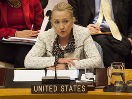Hillary Clinton addresses the U.N. Security Council