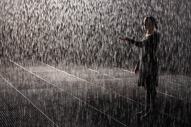 'Rain Room' art installation
