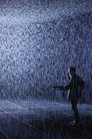 'Rain Room' art installation