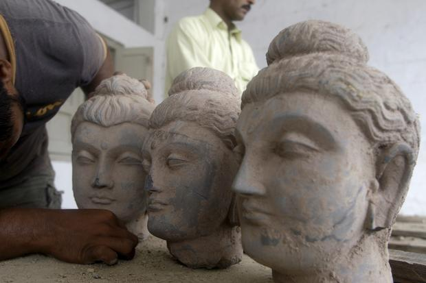 Buddha statues confiscated by custom authorities in Karachi, Pakistan