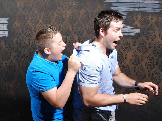 Terrified reactions at haunted house, Pt. 3