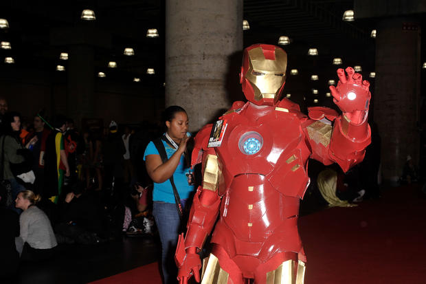 Wacky costumes at NY Comic-Con 2012
