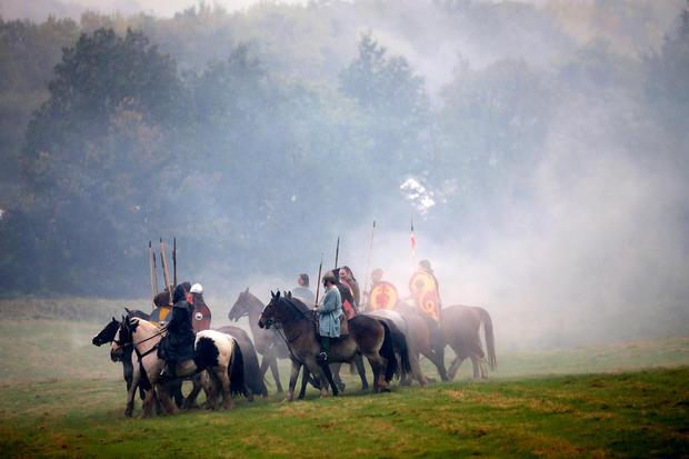 Re-enacting the Battle of Hastings