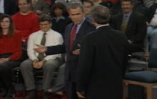 Famous debate moment: Gore intrudes Bush's personal space in 2000