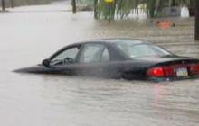 Sandy floods Cuyahoga River in Ohio