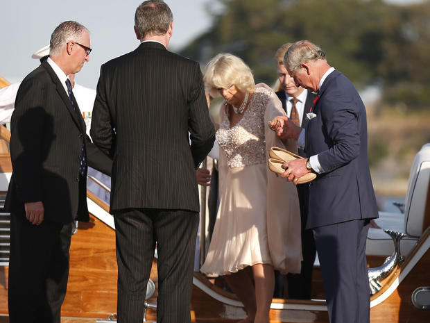 Charles and Camilla in the Outback