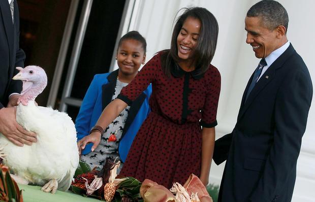 Thanksgiving turkeys pardoned by presidents