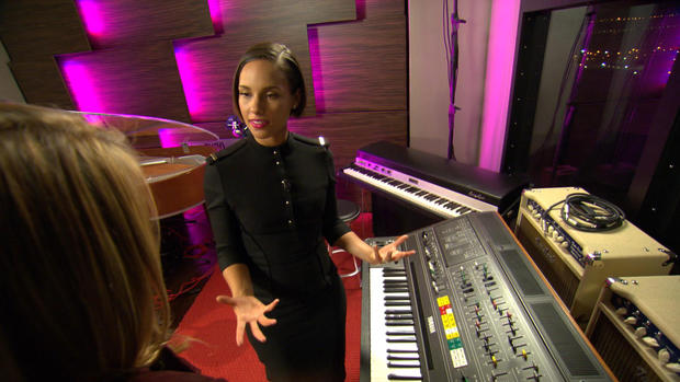 Inside Alicia Keys' private recording studio