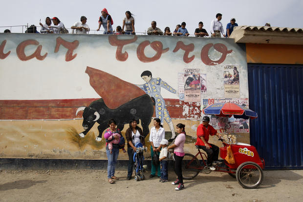 Bullfighting festival in Peru