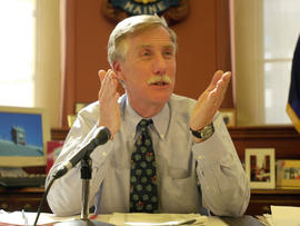 Angus King as governor of Maine in 2002.