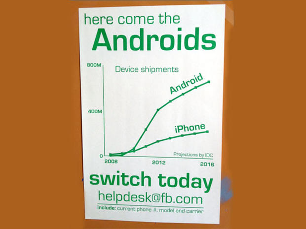 One of Facebook's Android posters.