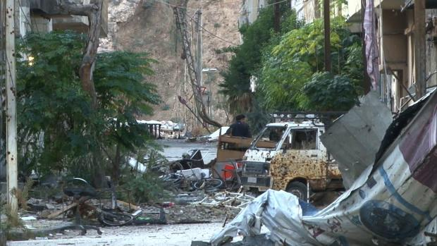 Destruction in Baba Amr, a neighborhood in Homs.