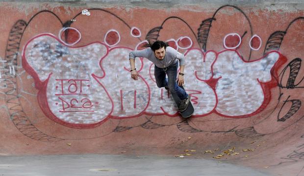 Artists build skateboard park in Detroit