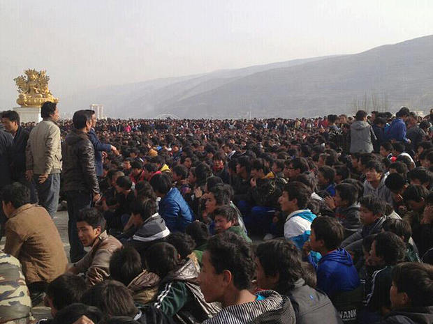 Pro-Tibet protest in Rebkong