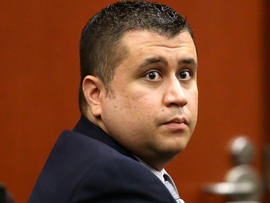 George Zimmerman sits in court at the Seminole County courthouse for a hearing Dec. 11, 2012, in Sanford, Fla.