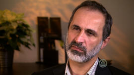 Moaz al-Khatib is the man chosen to lead a newly formed coalition of Syria's opposition groups.