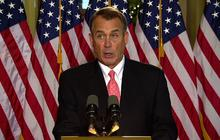 "Boehner gives 50-second press conference on ""fiscal cliff"""