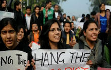 Indian women protest brutality