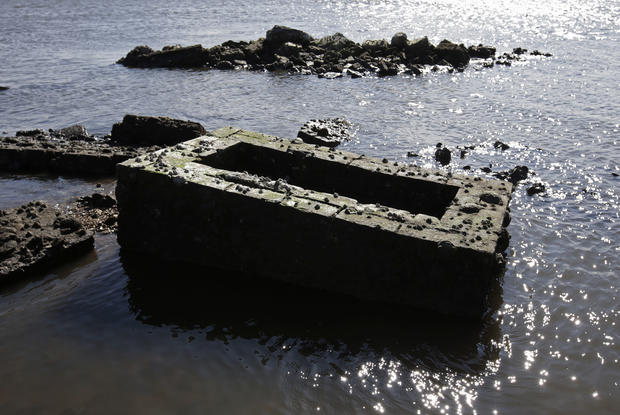 Sinking cemeteries in Louisiana