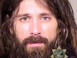 Caleb Grotberg, 32, of Portland, Oregon, was arrested for allegedly choking his girlfriend with his gridlocks Jan. 7, 2013, say Portland police.