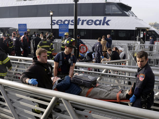 Ferry strikes NYC dock