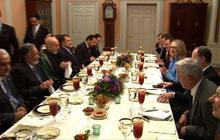 Clinton, Panetta host Karzai for dinner