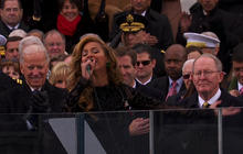 Beyonce sings national anthem at inauguration 2013