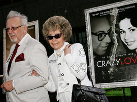 "Burton and Linda Pugach, the real-life subjects of the documentary ""Crazy Love,"" attend the film's premiere at the Beekman Theater May 22, 2007, in New York City."