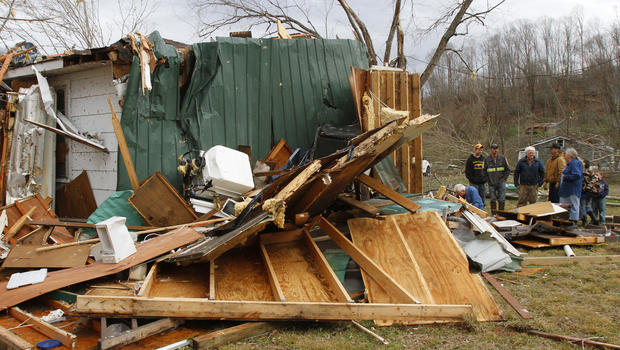 Massive storm system hits the South