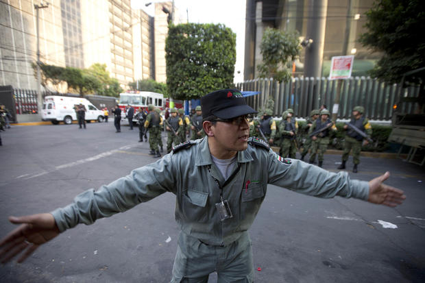 Oil company explosion in Mexico City