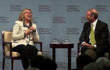 """John Kerry has some fairly large Manolo Blahniks to fill,"" Haass tells Clinton"