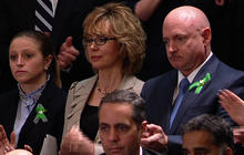 "Giffords, Newtown victims ""deserve a simple vote,"" Obama says"