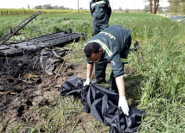Hot air balloon crash in Egypt