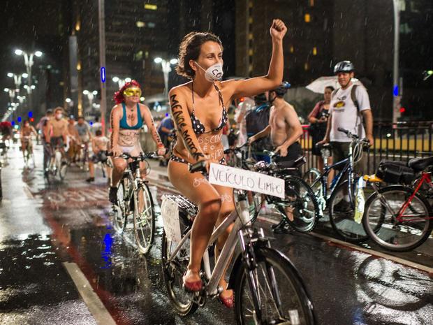 Nude cyclers celebrate World Naked Bike Ride