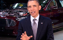 "Obama calls to shift cars, trucks off oil ""for good"""